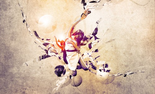 Awesome Abstract Artwork with Clone Stamp Tool in Photoshop